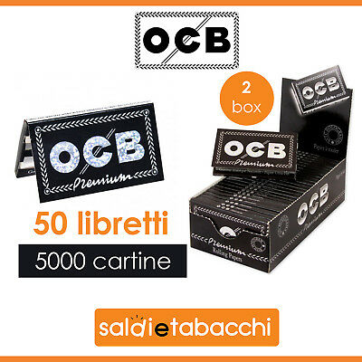 5000 Cartine OCB Pemium Corte Doppie - 2 box da 25 libretti da 100 cartine