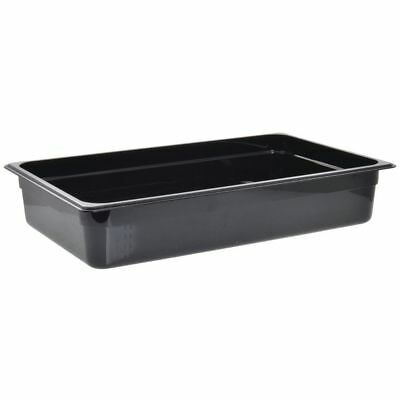 "Cambro Camwear Cold Food Pan Full Size Black Polycarbonate - 4""D"