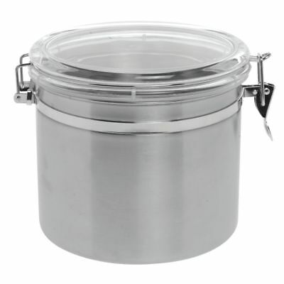 """Stainless Steel Canister with Air Tight Lid 145oz 8""""Dia x 8""""H"""