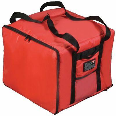 """Rubbermaid ProServe Red Nylon Medium Food Delivery Bag -17"""" L x 17"""" W x 13"""" H"""