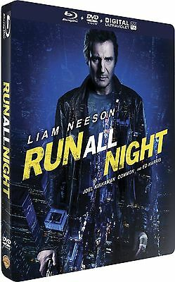 Blu Ray + DVD : Run all night / Night Run - Liam Neeson - Ed Steelbook - NEUF