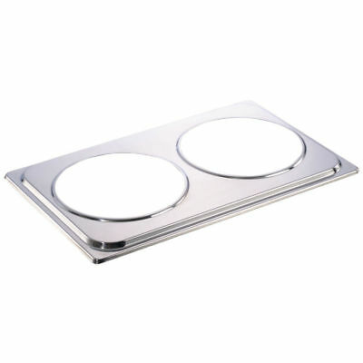 HUBERT Soup Station Adapter Plate Stainless Steel - 20 7/8 L x 13 2/8 W x 3/4 H