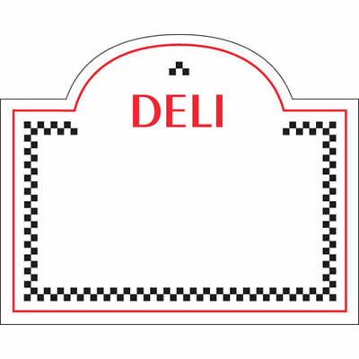 Write On Deli Tag With Dome Top White Heat Resistant Merchandising Tag - 3