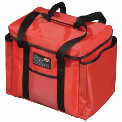 """Rubbermaid ProServe Red Nylon Insulated Sandwich Delivery Bag - 15"""" L x 12"""" W x"""