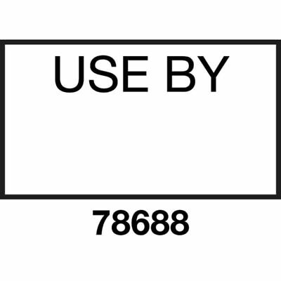 """Monarch White Labels With Black Print """"Use By"""" For 1131 1-Line Date/Time Label"""