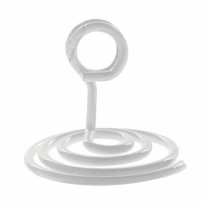 "Countertop Sign Holder With Sprial Base White Metal - 1 3/4""H"