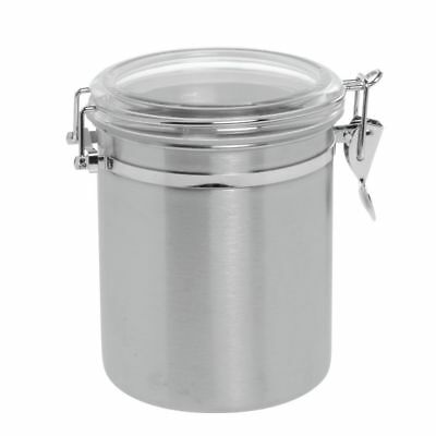 """Stainless Steel Canister With Air Tight Lid, 36 Oz, 5""""Dia x 5'H"""