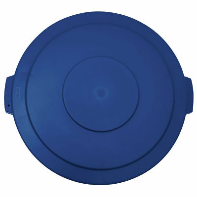 "Flat Garbage Can Lid for 20 Gal Trach Can Blue Plastic - 19 1/4""Dia x 2""H"