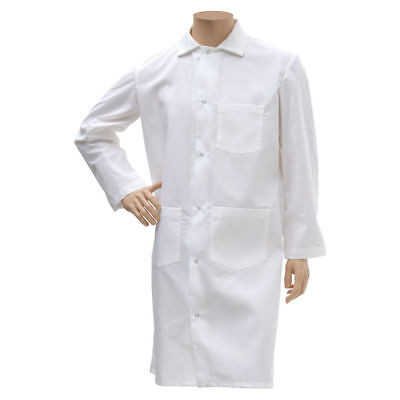 HUBERT Butcher Frock LongWhite Poly Cotton - Extra Large