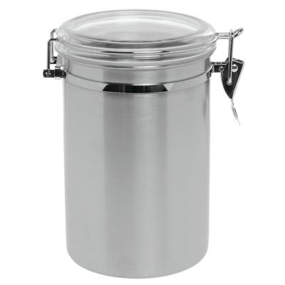 """Stainless Steel Canister with Air Tight Lid, 61oz 5""""D x 8""""H"""