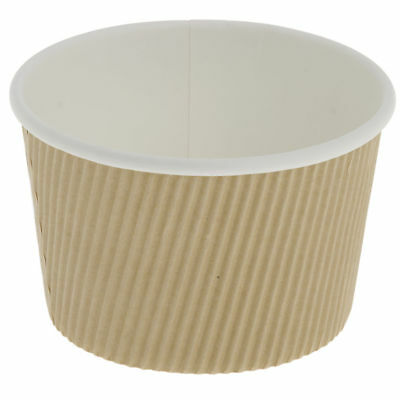 "Savori 16 oz Tan Hot Pot Soup Cups - 4 1/2""Dia x 3""H 250 Per Case"