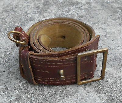 SERBIA / YUGOSLAVIA ORIGINAL JNA OFFICERS LEATHER BELT (OPASAC) 85-109cm  33-43""