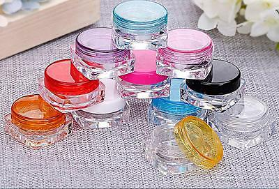 10Pcs Cosmetic Empty Jar Pot Eyeshadow Makeup Face Cream Lip Balm Containers M&