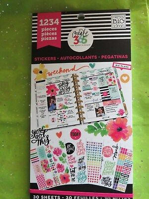 TODAY IS THE DAY edition Create 365 The Happy Planner MAMBI 1234 stickers