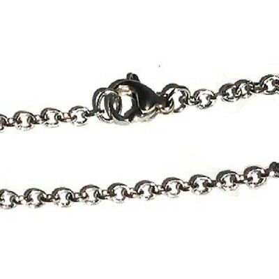 Stainless Steel 18 Inch 2mm oval  Link Neck Chain Necklace