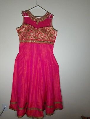 """Bollywood Style 3Pc Embroidered Dress Size 44"""""""
