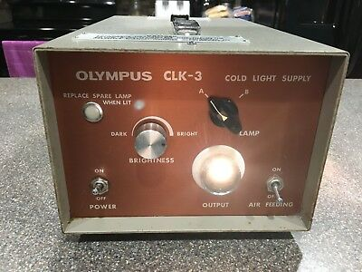 Olympus CLK-3 Cold Light Supply for flexible Endoscopes Works Great!!!
