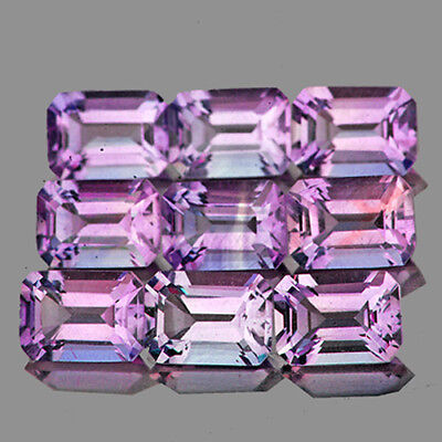 Natural Amethyst 7x5mm Octagon 9pc - 7.87ctw