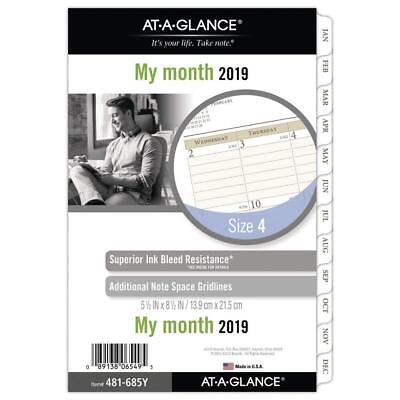 at-A-Glance Day Runner Monthly Planner Refill Pages, January 2019 - December...