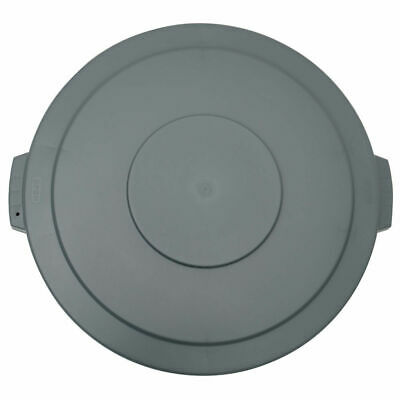 HUBERT Garbage Can Lid For 44 Gal Trash Receptacle Grey Plastic Flat Lid 24