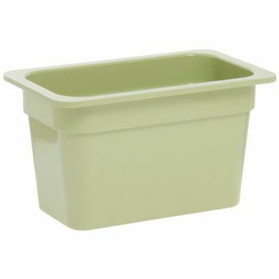 1/4 Size Cold Food Pan Cold Food Pan Willow Green Melamine - 6 3/8 L x 10 7/8 W