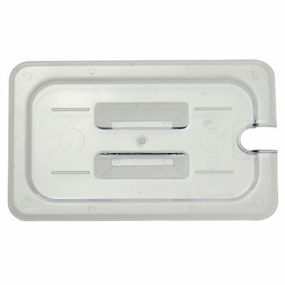 Fourth Size Cold Food Pan Notched Cover With Handle Translucent