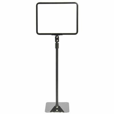 HUBERT Sign Frame Sign Holder With Adjustable Round Stem Matte Black Finished