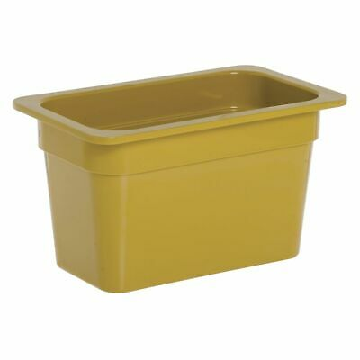 1/4 Size Cold Food Pan Cold Food Pan Mustard Yellow Melamine - 6 3/8 L x 10 7/8