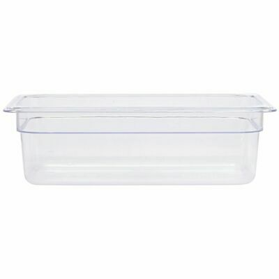 "Third Size Cold Food Pan Translucent, 12""L x 6""W x 4""D"