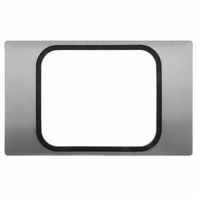 "Hot Food Bar Tile With Roasting Pan Cut-Out Satin Stainless Steel - 21"" L x 12"
