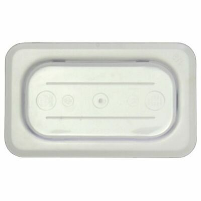 Ninth Size Notched Cover With Handle For Cold Food Pans Translucent