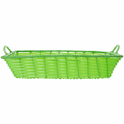 "Storage Basket With Handles, Green, Rectangular - 20"" L x 13 1/2 W x 4"" H"
