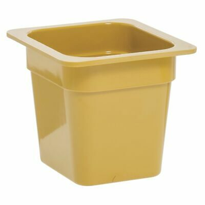 """1/6 Size Cold Food Pan Cold Food Pan Mustard Yellow Melamine - 6 3/8""""L x 6"""