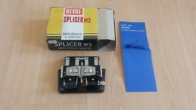 Vintage Revue Splicer M3 For Super-8 Regular 8 & 16 mm Film Boxed