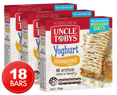 3 x Uncle Tobys Yoghurt Muesli Bars Honeycomb 6-Pack