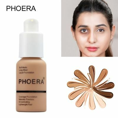 Oil-Controlling PHOERA Liquid Foundation Moisturizing Cosmetic Longlasting