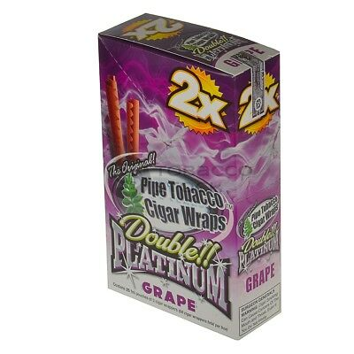 Double Platinum Blunt Wraps GRAPE FULL BOX