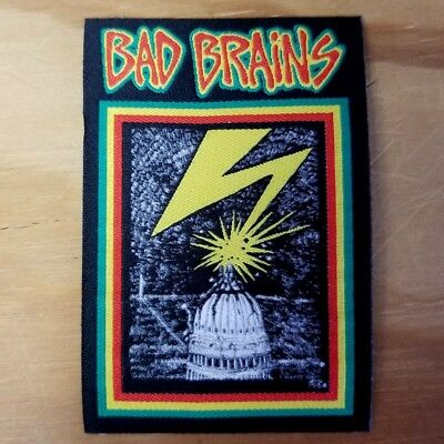 BAD BRAINS woven Patch - Iron On - FREE SHIPPING!