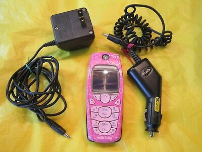 Hello Kitty Nokia Cell Phone With Electric Charger Cord Used Item Not Working
