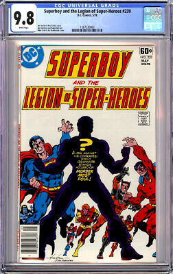 Superboy & The Legion Of Super-Heroes #239 Cgc 9.8 White Pages 1978