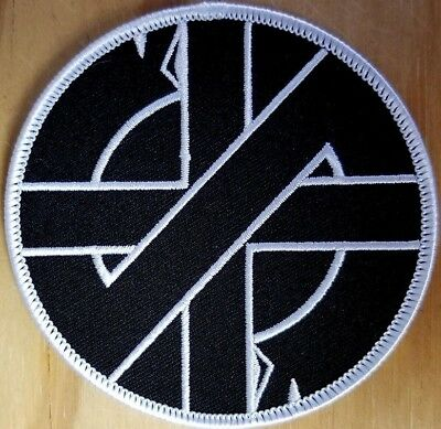 CRASS SYMBOL embroidered Patch - Iron On - Punk Rock - FREE SHIPPING!