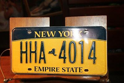 2010 New York Empire State License Plate HHA 4014 (A)