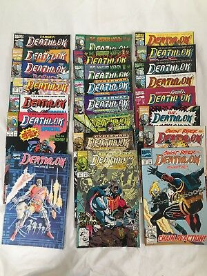 Lot Of 23 Deathlok Comic Books, Modern Age, Marvel