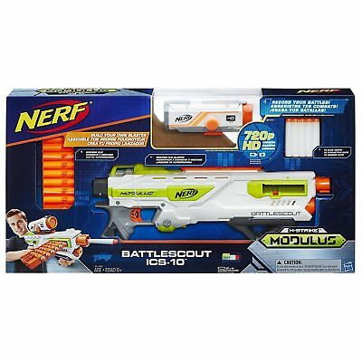 "New NERF N-Strike Modulus Recon ""Battlescout ICS -10"" Blaster w/ HD Camera"