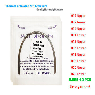 Dental Orthodontic Thermal Activated Niti Round Arch Wire Natural/Ovoid/Square
