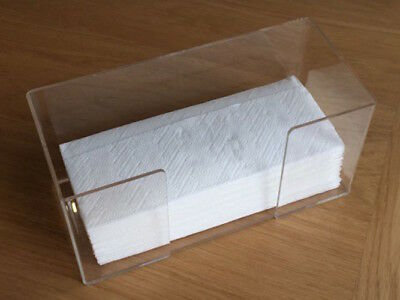 Clear Acrylic Table-top Serviette/Paper Towel/Napkin Dispenser