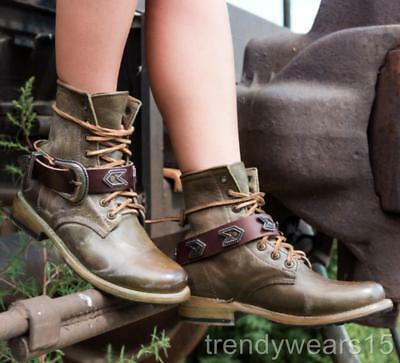 Fast Ship! New! Sz 9 Freebird By Steven Chuck Olive Multi Combat Boots Lace Up