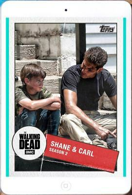 TOGETHER MARATHON WAVE 2 SHANE & CARL Topps Walking Dead Trader Digital Card