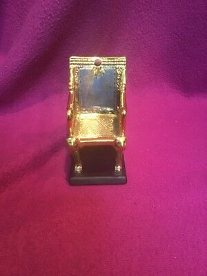 Franklin Mint 1989 Treasures Of King Tut Figurine Mint Cond The Golden Throne