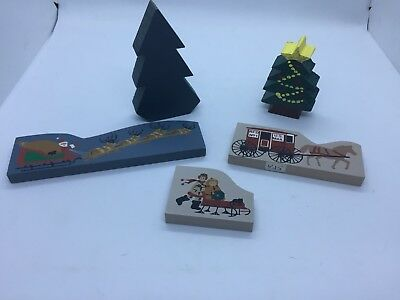 Cats Meow Village Christmas Accessories Lot, Santa, Trees, Children, RETIRED
